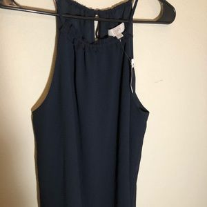 NWT LOFT blouse sleeveless blue Sz M